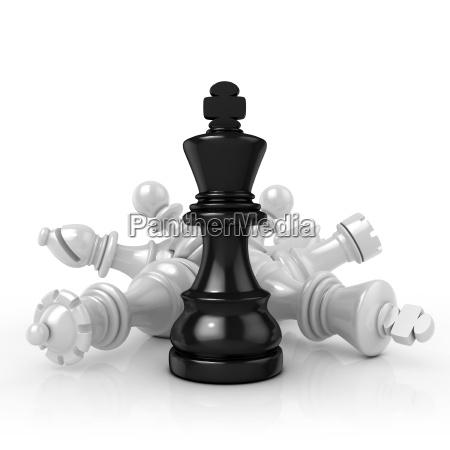 black king standing over fallen black