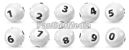 set of lottery black and white