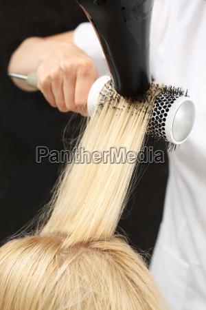 modeling hair for a brush