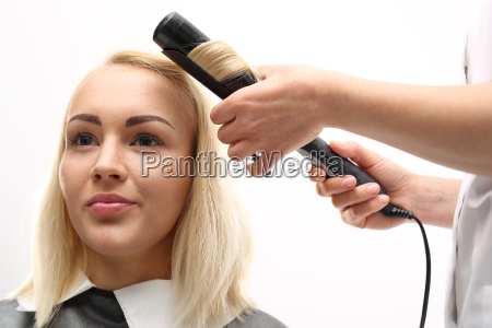 hair modeling for a curling iron