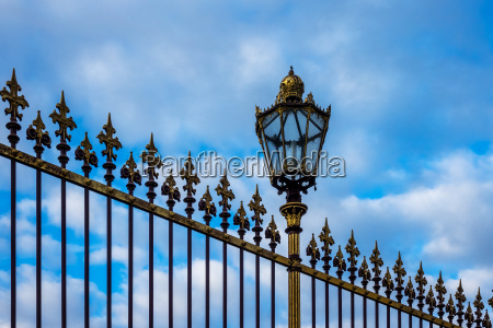 historical fence with lantern