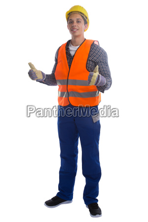 construction worker construction thumbs up portrait
