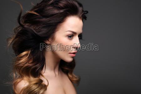 portrait of a beautiful woman on