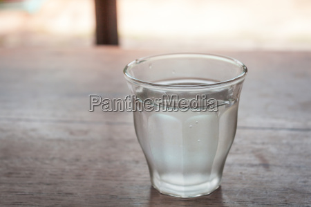 drinking water in a glass on