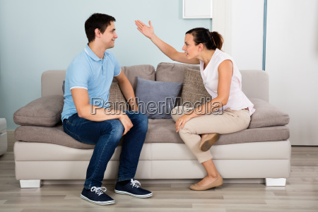 couple, having, argument, at, house - 19218459