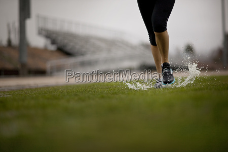 young woman jogging on a sports