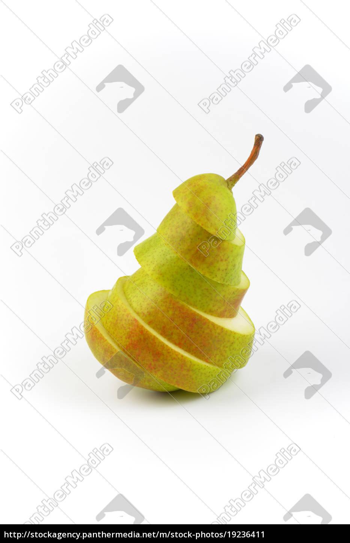 sliced, fresh, pear - 19236411