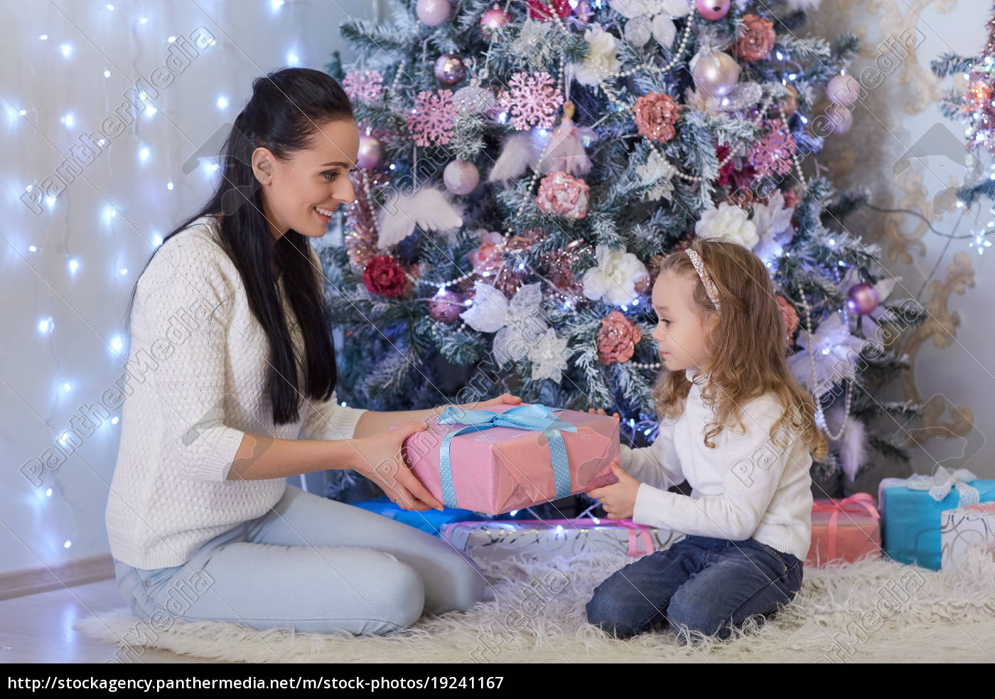 happy, family, with, christmas, gifts. - 19241167