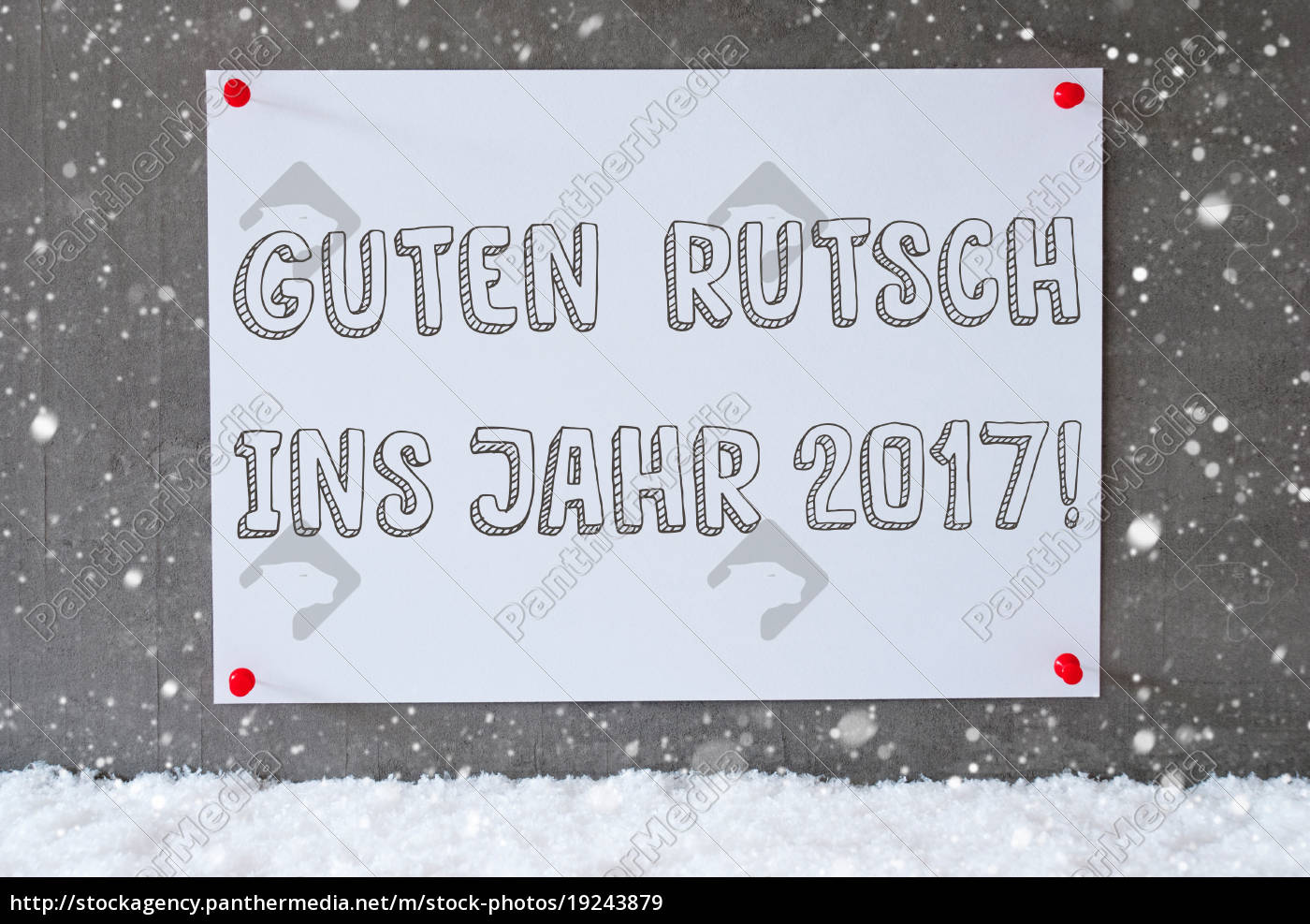 label, , cement, wall, , snowflakes, , guten, rutsch - 19243879