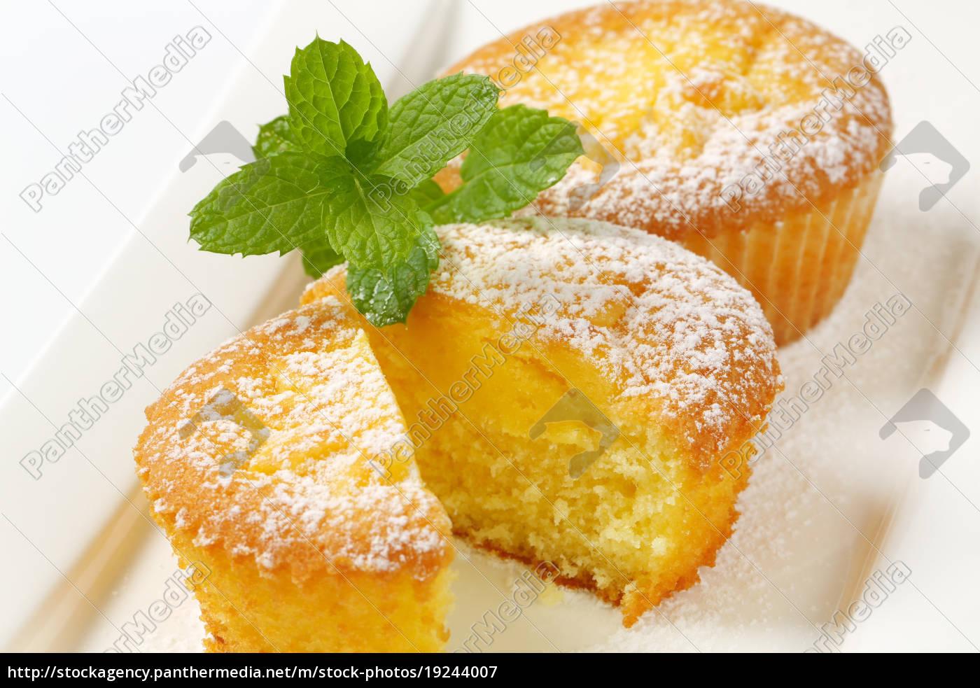 pudding, filled, lemon, cupcakes - 19244007