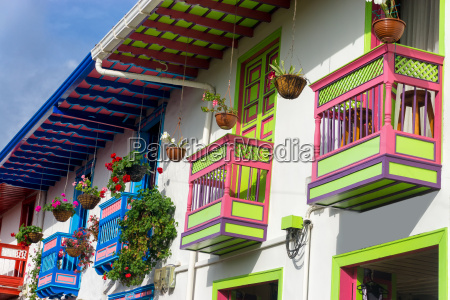 colorful balconies in salento