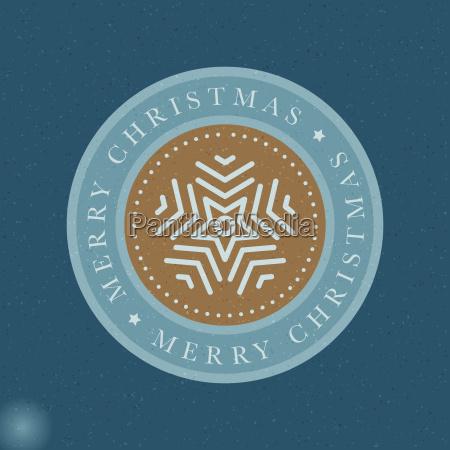 vector snowflake christmas greeting card circle