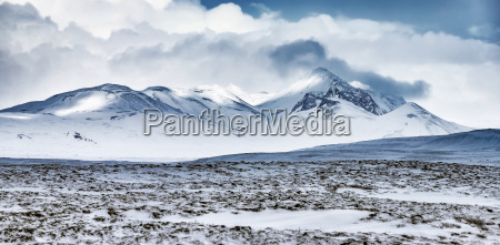 winter mountains landscape iceland