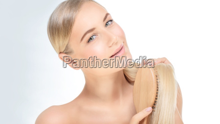 woman with a beautiful healthy hair
