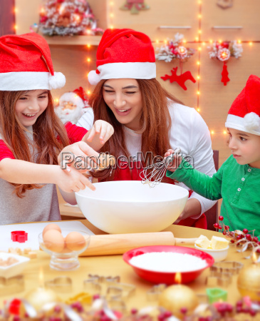 happy family preparing for christmas