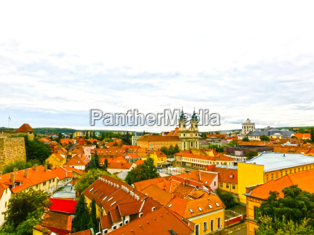 panoramic view of eger city in