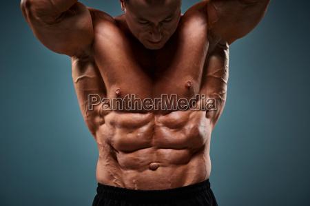 torso of attractive male body builder