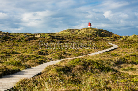 lighthouse in northern village on the