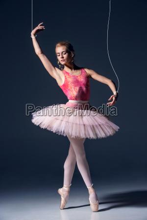 ballet, dancer, as, puppet, dancing, over - 19273699