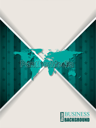 abstract turquoise brochure with stripes stars