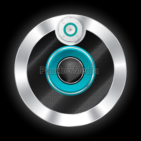 cool metallic plated speaker design with