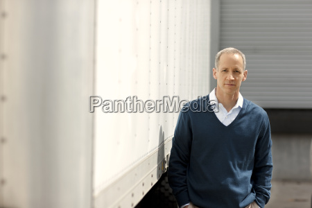 portrait of a mature man standing