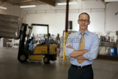 portrait of a businessman standing in