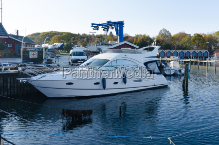 one big motorboat yacht in the