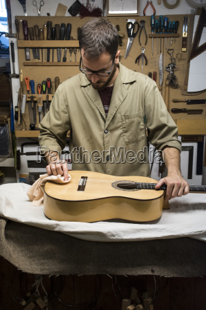 luthier at work in his workshop