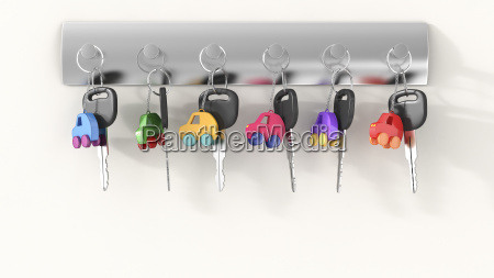 car keys with different key ring