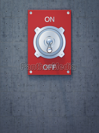 red flip switch on off 3d