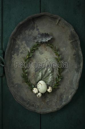 box tree wreath goose egg and