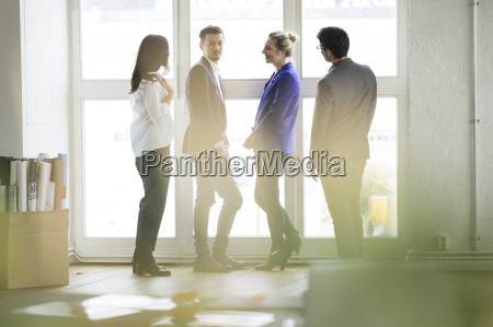 group of successful business people standing