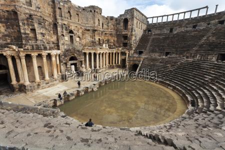 syria daraa governorate bosra roman theater