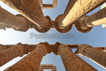 egypt luxor karnak temple columns low