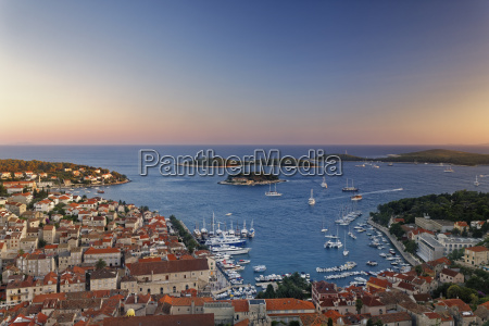 croatia hvar island hvar and harbour