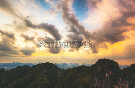 thailand view to the jungle at