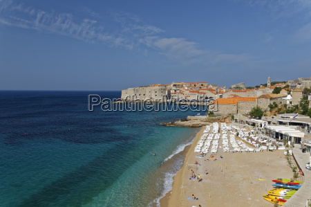 croatia dubrovnik old town with city