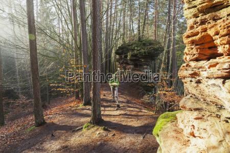 germany rhineland palatinate hiker reading map