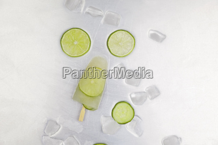 lime ice lolly ice cubes and