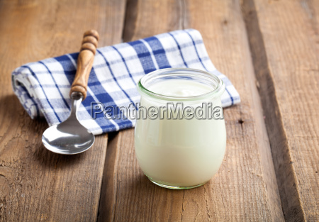 delicious natural yoghurt in a glass