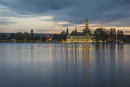 germany constance evening skyline