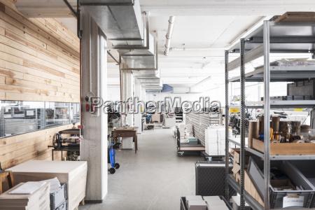 storeroom of a printing shop