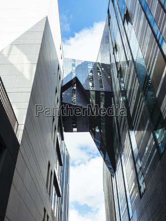 germany leipzig view to skywalk between