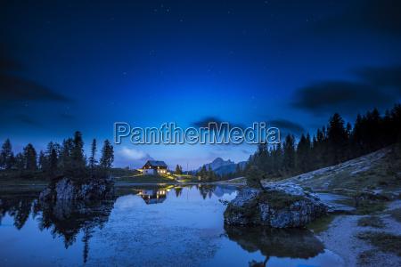 italy veneto dolomites lake federa and
