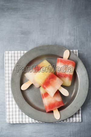 plate of different homemade melon ice