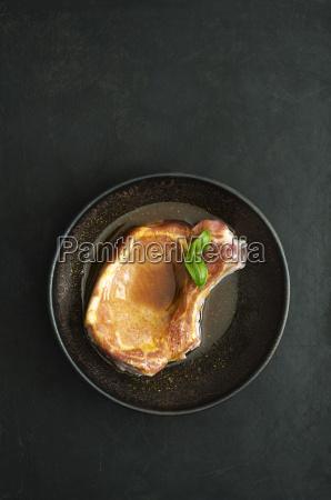 chop in pepper marinade and basil