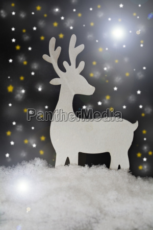 christmas decoration with stag and artificial