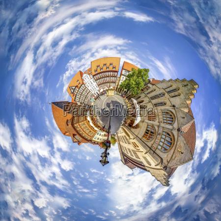 germany hildesheim market square montage