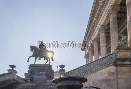germany berlin equestrian statue in front